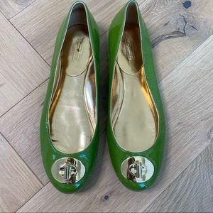 Coach Patent Judy Ann Buckle Ballet Flats Size 8